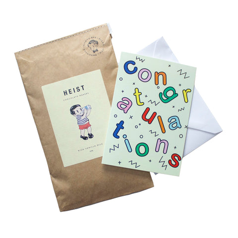Packet of chocolate and card