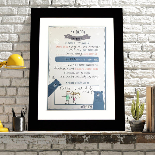Finish At Home 'My Daddy' Print