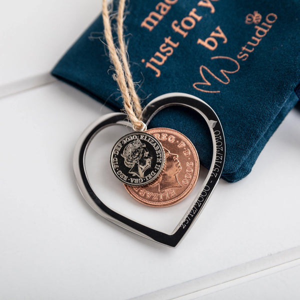 Coin Heart Decoration - MW Studio