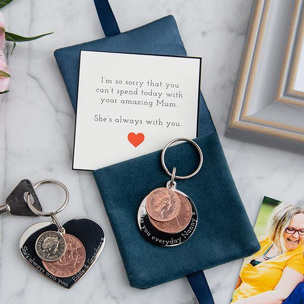 In memory round coin keyring - MW Studio