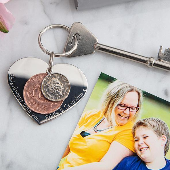 In memory heart coin keyring - MW Studio