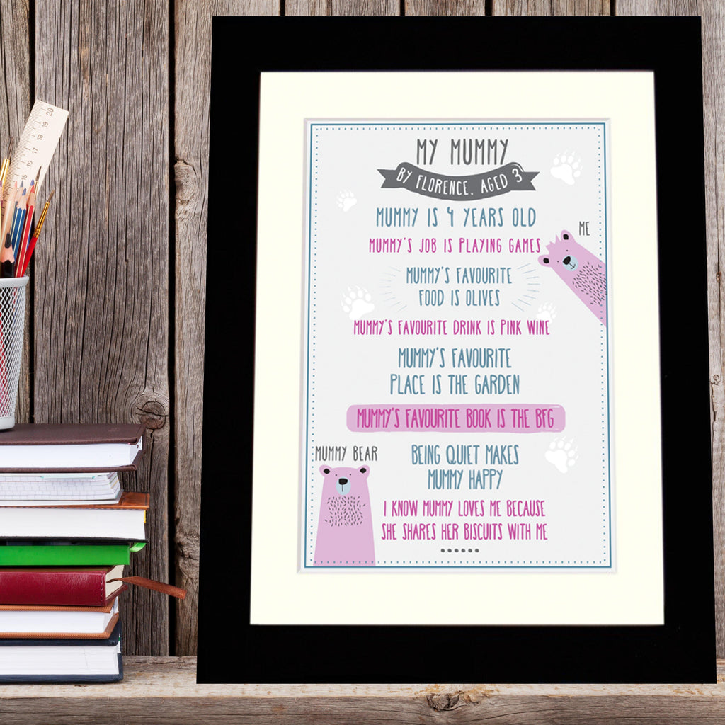 Personalised 'My Mummy' Print