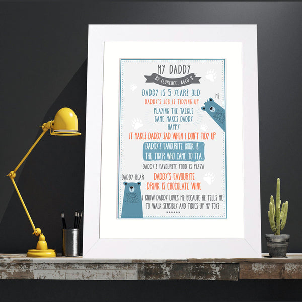Personalised 'My Daddy' Print