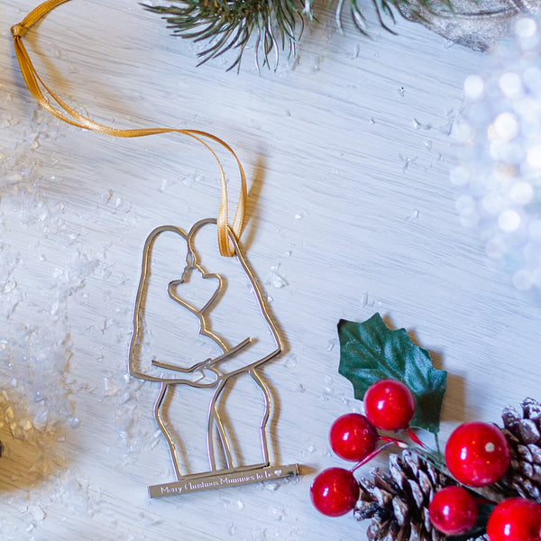 Mummy & Mummy Pregnancy Christmas Decoration - MW Studio