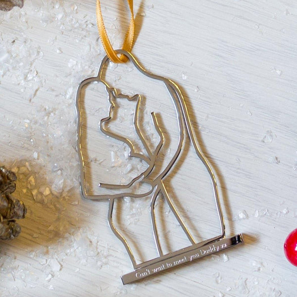 Mummy & Daddy Pregnancy Christmas Decoration - MW Studio