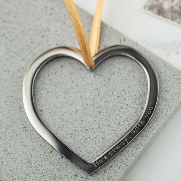 Personalised Heart in Gold or Silver