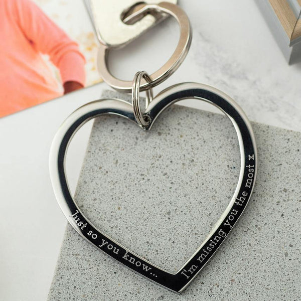 Missing You Heart Keyring