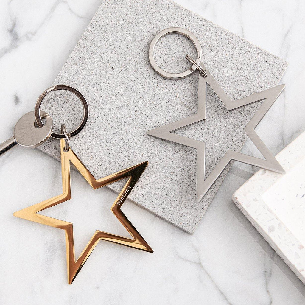 Star Keyring in Gold or Silver - MW Studio