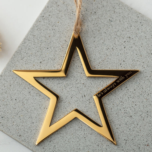 Personalised Star Decoration in Gold or Silver