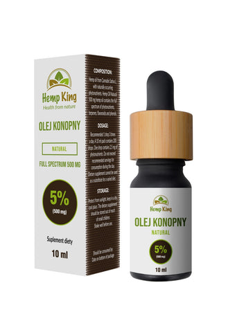 Olej CBD Natural 5% (500mg) Full Spectrum - 10ml
