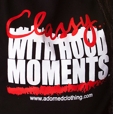 Classy With Hood Moments Black T-Shirt
