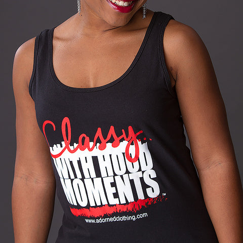 Classy With Hood Moments Tank-Black