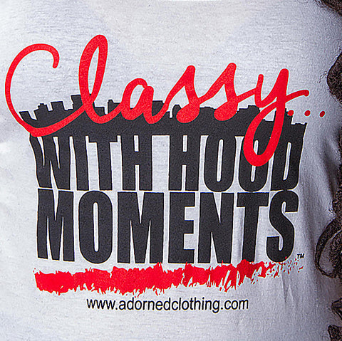 Classy With Hood Moments Tank- White