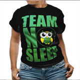 TEAM NO SLEEP BLACK WOMEN'S TEES-BLACK