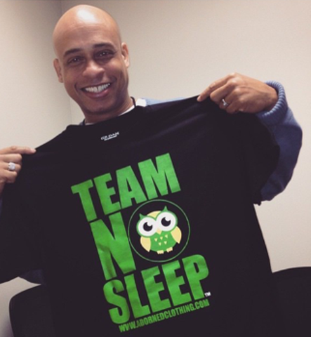 TEAM NO SLEEP MEN'S BLACK