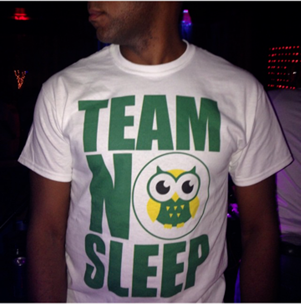 TEAM NO SLEEP WHITE T-SHIRT