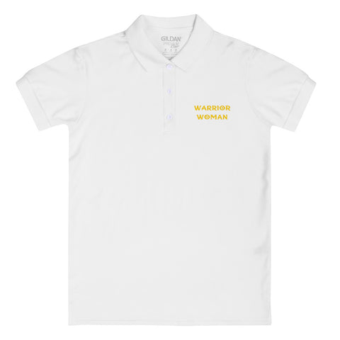 Warrior Woman Embroidered Women's Polo Shirt