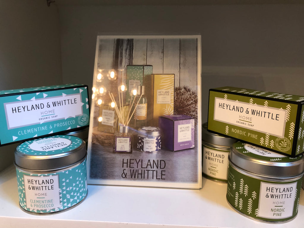 Candles and Soaps from Heyland & Whittle