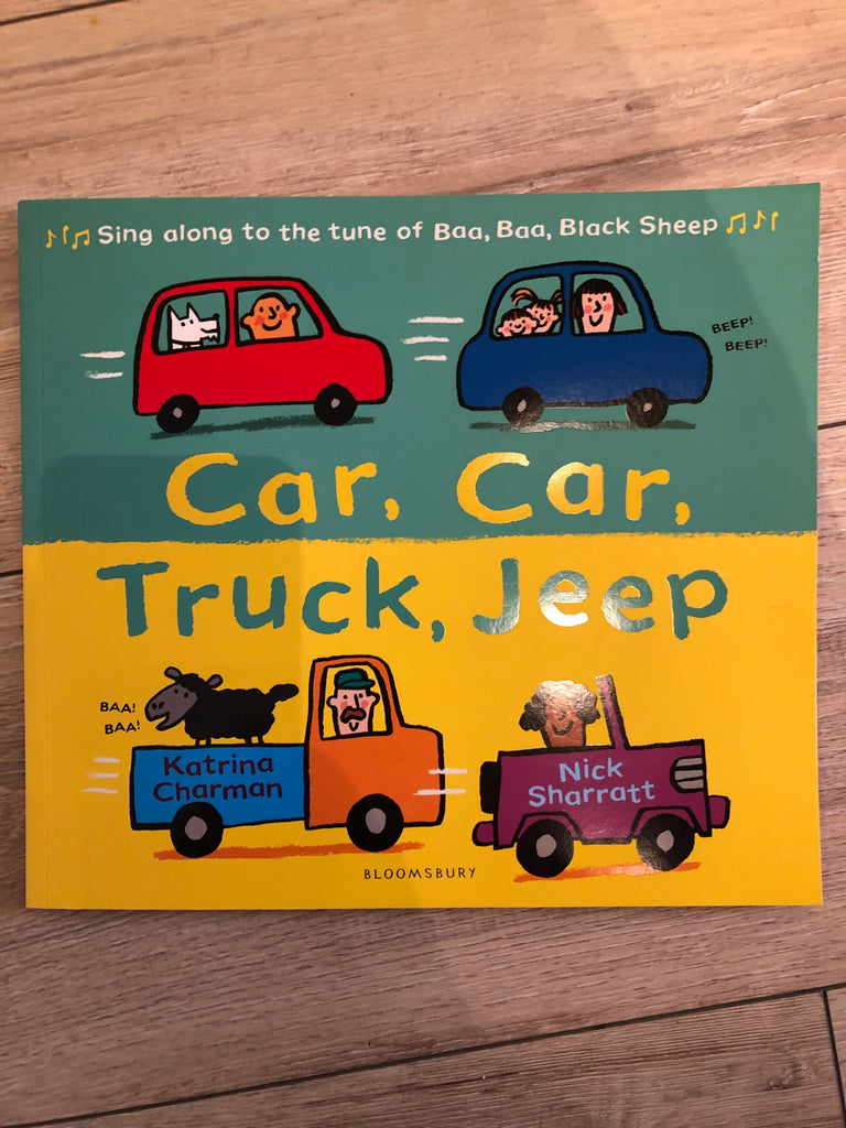 Car, Car, Truck, Jeep picture book