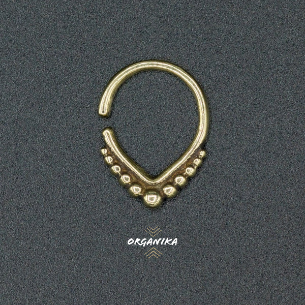Brass Septum 1mm 18g For Pierced Nose Organika Tribal