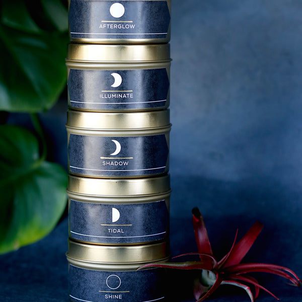 Hand-poured Soy Moon Candles