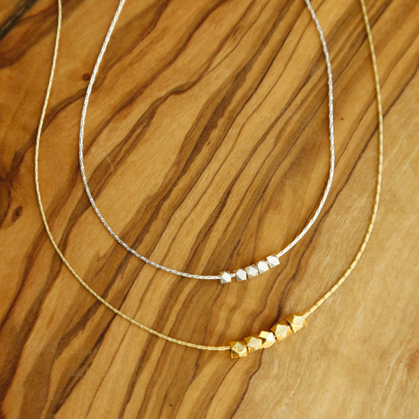 Silver or Gold Twirl Necklace