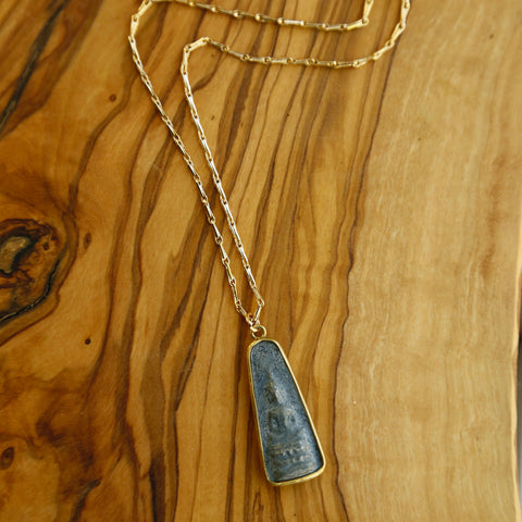 Granite Buddha Oblong Necklace