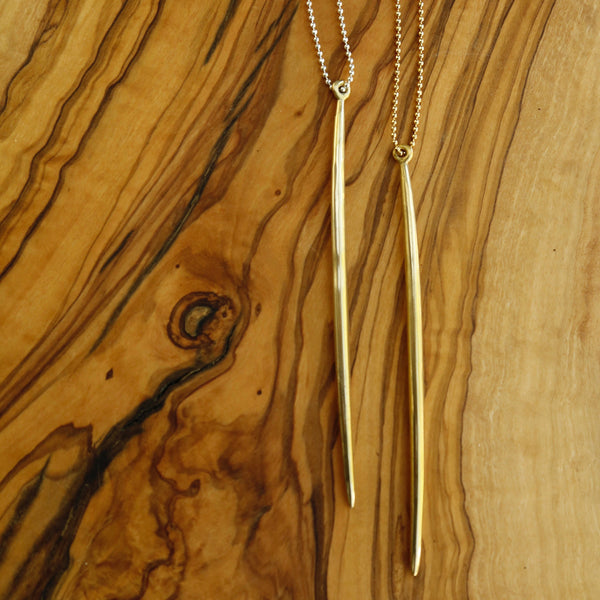 Gold or Silver Spike Necklace