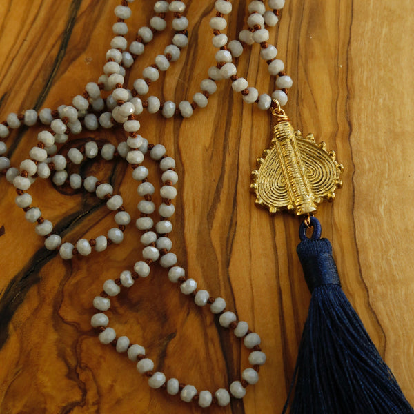 Sky Malasana Tassel Necklace