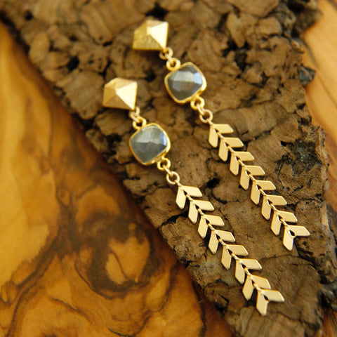 Moonstone Athena Earrings