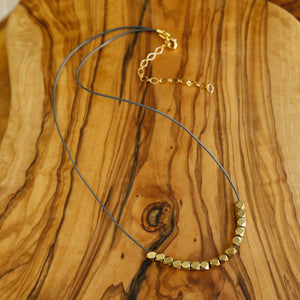 Leather Twirl Necklace