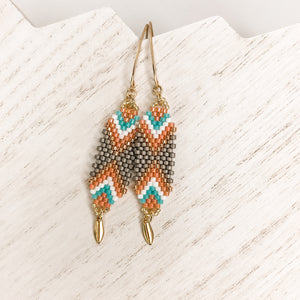 Interwoven Coral Drop Earrings