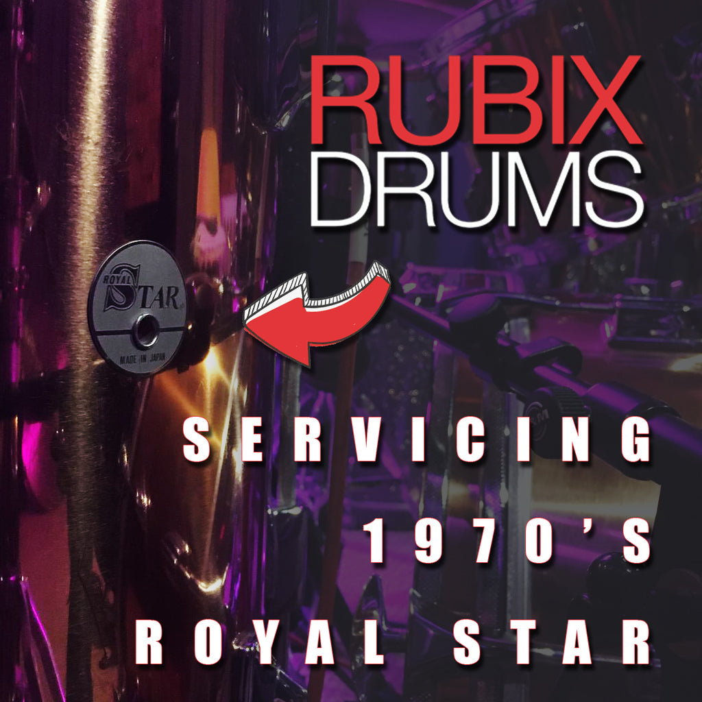 1970's Royal Star (Pre Tama) Drum Kit Servicing @ Rubix Drums