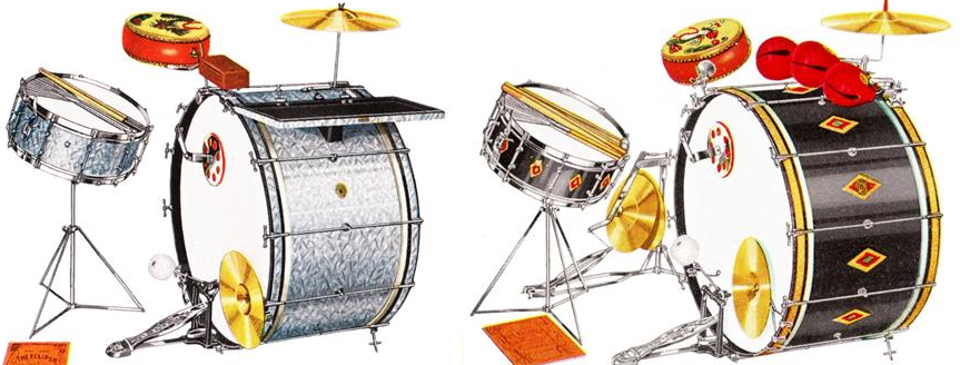 History of Drums Part 1. Ludwig and Slingerland Flange Hoops