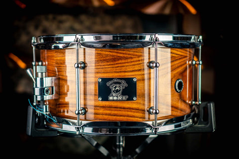 "BONE CUSTOM DRUMS - Maple/Rosewood 14"" x 6.5"" High Gloss Lacquer Snare Drum"