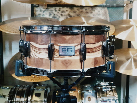 "FG Drums - Walnut & Zebrano 14"" x 6"" Snare Drum"