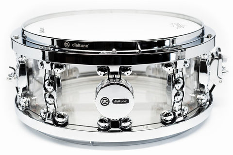 "dialtune 14x6.5"" Acrylic Snare Drum"