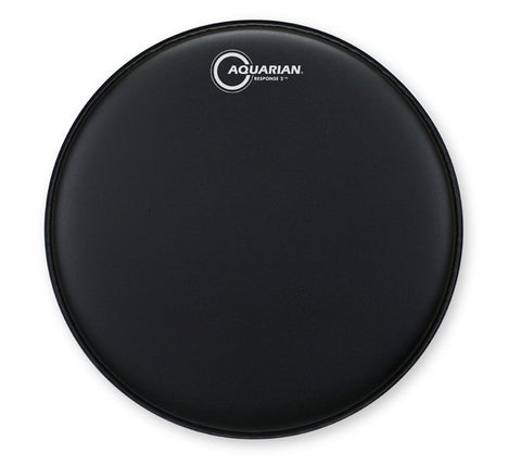 "Aquarian Response 2 Coated Black Drum Head 12"" - TCRSP2-12BK"