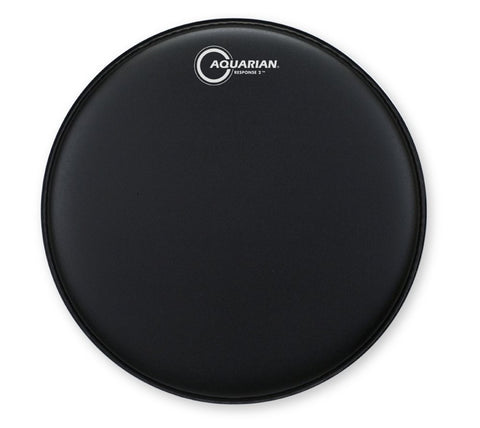 "Aquarian Response 2 Coated Black Drum Head 14"" - TCRSP2-14BK"
