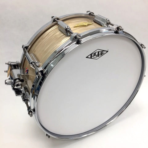 ASBA DRUMS - REVELATION FINISH CHARLIE WHITE SNARE DRUM