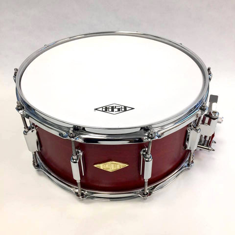 ASBA DRUMS - RIVE GAUCHE FINISH LOU RED SNARE DRUM