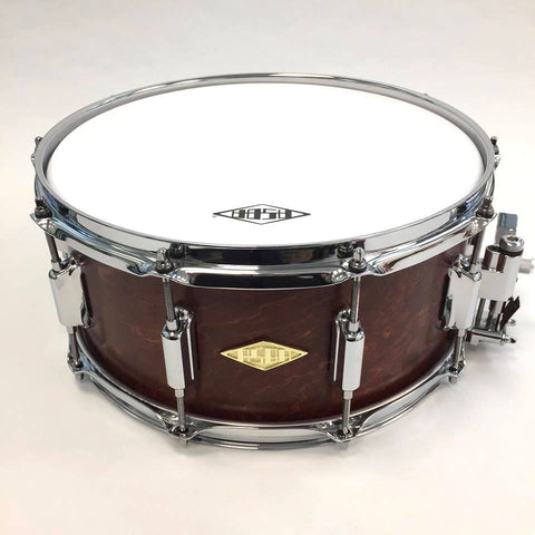 ASBA DRUMS - RIVE GAUCHE FINISH MARRON FIVE SNARE DRUM