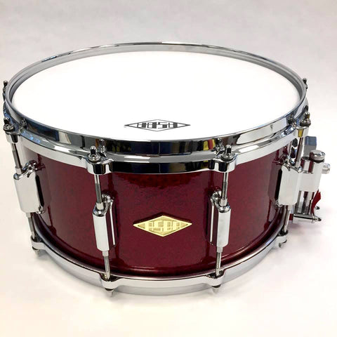 ASBA DRUMS - REVELATION FINISH MOULIN ROUGE SNARE DRUM