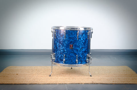 "Premier '54' Vintage 16"" Floor Tom Drum in Blue Pearl - 1966"