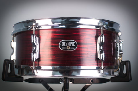 "Olympic '65' Vintage Drum Kit in Red Silk Pearl INC 14"" Snare Drum- 20/12/16/14SD - 1966"