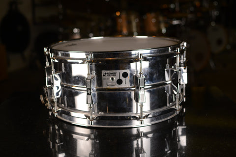 "Sonor D-506 14x6.5"" Ferromanganese Snare Drum - Early 1980's"