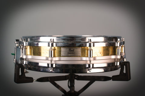 "Pearl Free Floating 14"" x 3.5"" 1990's Brass Snare Drum"