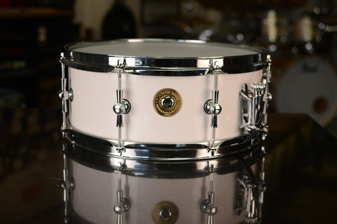 "Vintage Soul Steel Series 14x5.5"" Snare Drum - White Shimmer Lacquer"