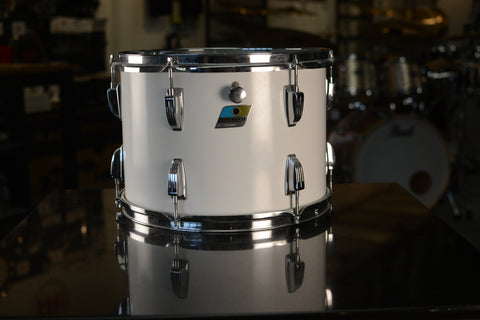 "Ludwig Vintage 14x10"" Rack Tom Drum in White Cortex - 1970's"