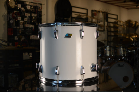 "Ludwig Vintage 18x16"" Floor Tom Drum in White Cortex - Mid 1970's"